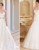 Elegantes vestidos de escote corazón