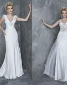Sensuales vestidos rectos y en color blanco para novias