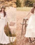 La naturaleza y la elegancia se dan cita en esta colección de novia