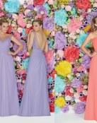 ¿Vestidos para damas en lila, azul o coral?