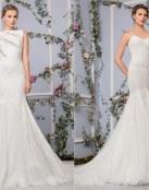 Vestidos rectos, románticos y perfectos para las novias