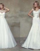 Sencillez en los vestidos para novia de Mía