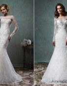 6 vestidos con manga de Amelia Sposa