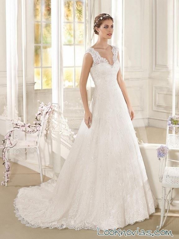 tirantes en vestidos de fara sposa