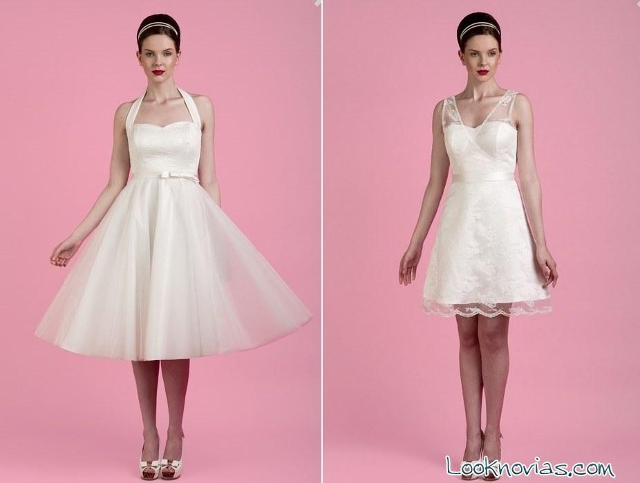 Vestidos cortos de novia por Toby Hannah