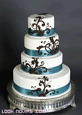 tartas decoradas con dibujos modernos