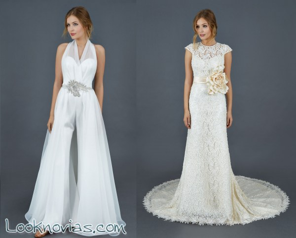 Trajes y vestidos para novia moderna e innovadora