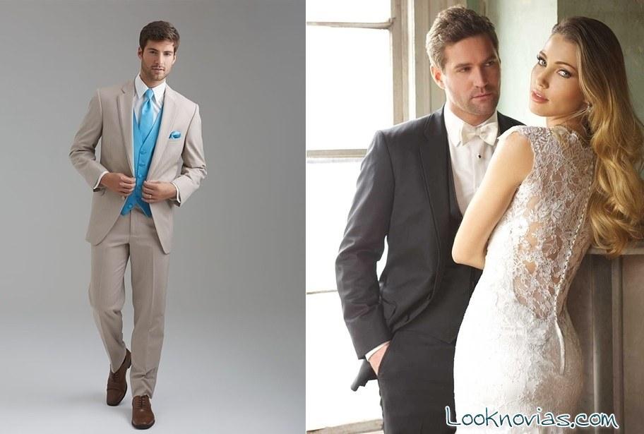 Trajes para novio blanco con azul for Trajes de novio blanco para boda
