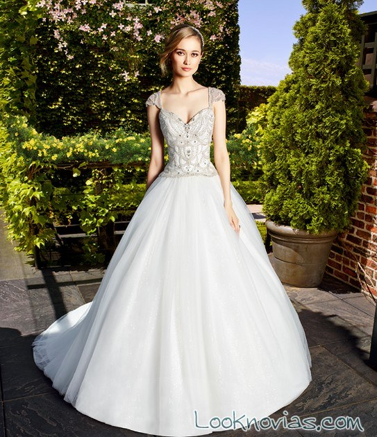 trajes de novia falda princesa moonlight couture