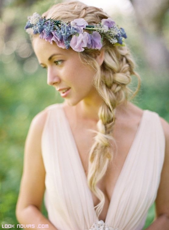 coronas de color para novias