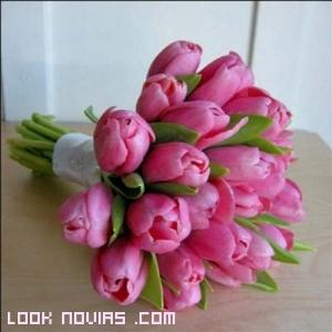 ramos rosas para novia