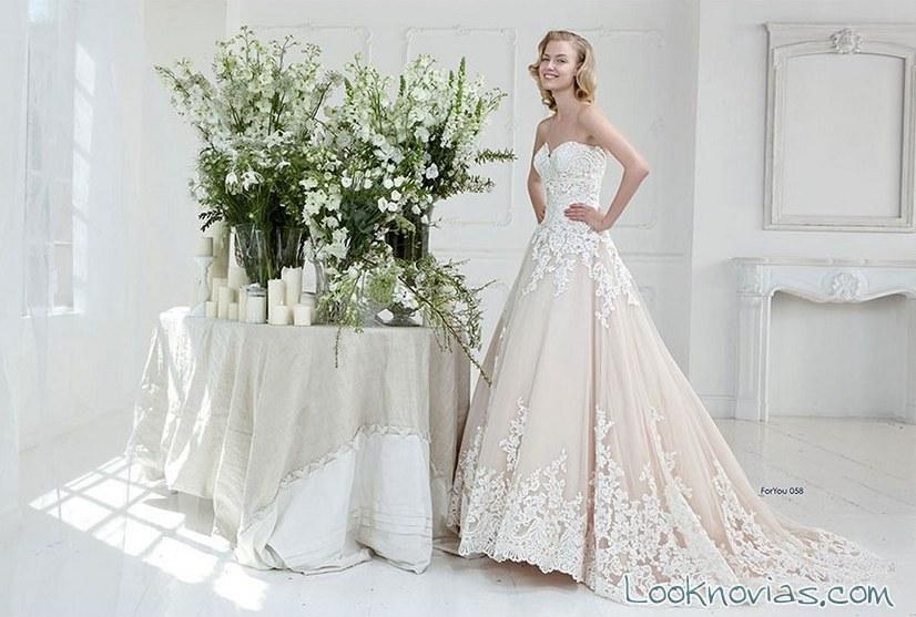 vestido aimée doble bordados