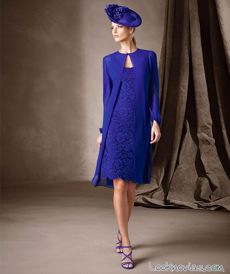 Vestido madrina azul pronovias