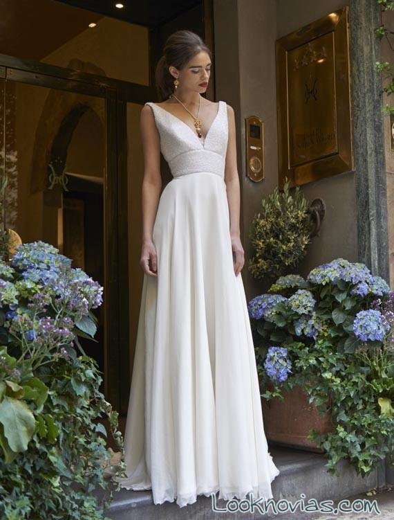 vestido blanco con doble tirante
