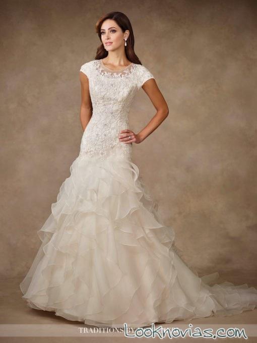 vestido blanco con volantes traditions de mon cheri