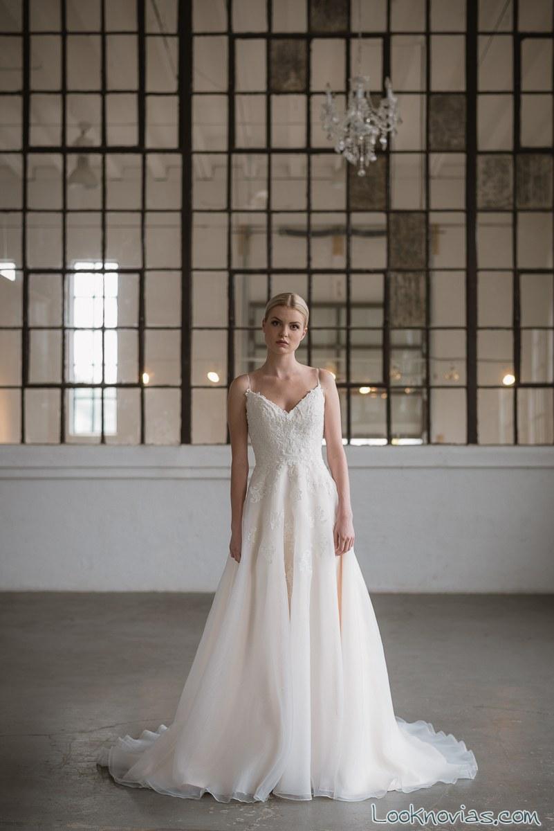 vestido blanco de gasa lis simon