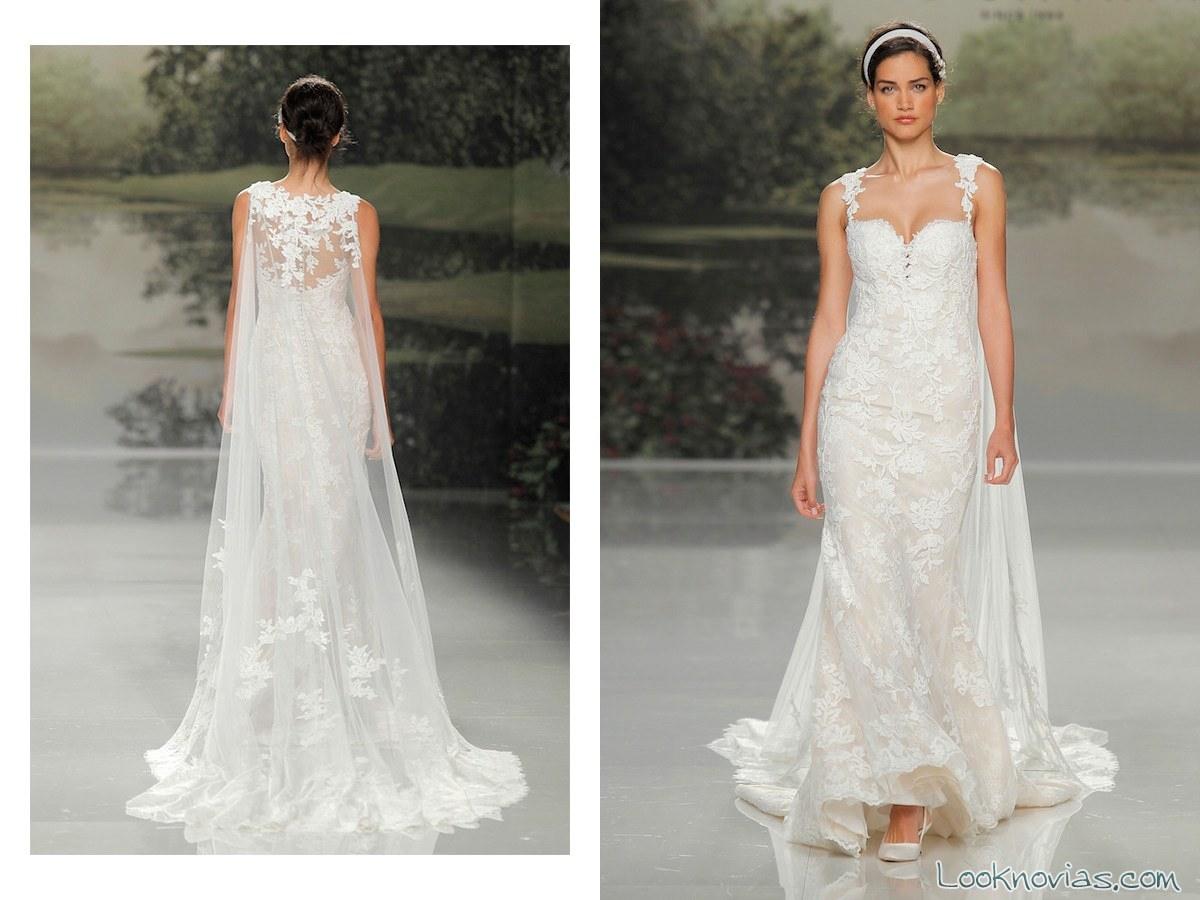 vestido blanco de novia con capa de tul