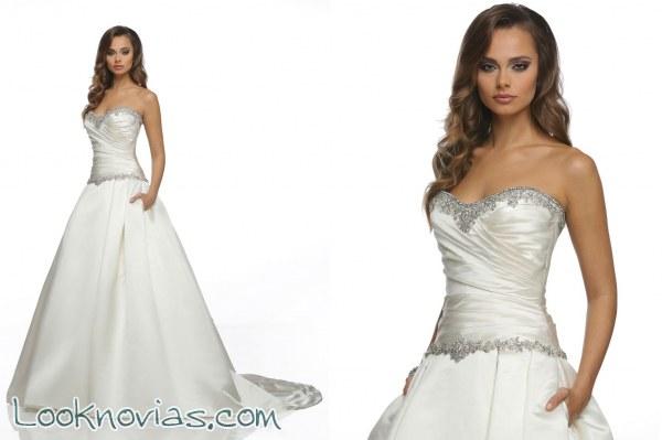 Vestidos para novia con el precioso corte evasé