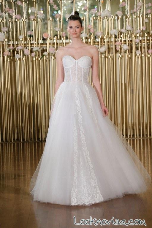 vestido blanco novias francesca miranda 2018