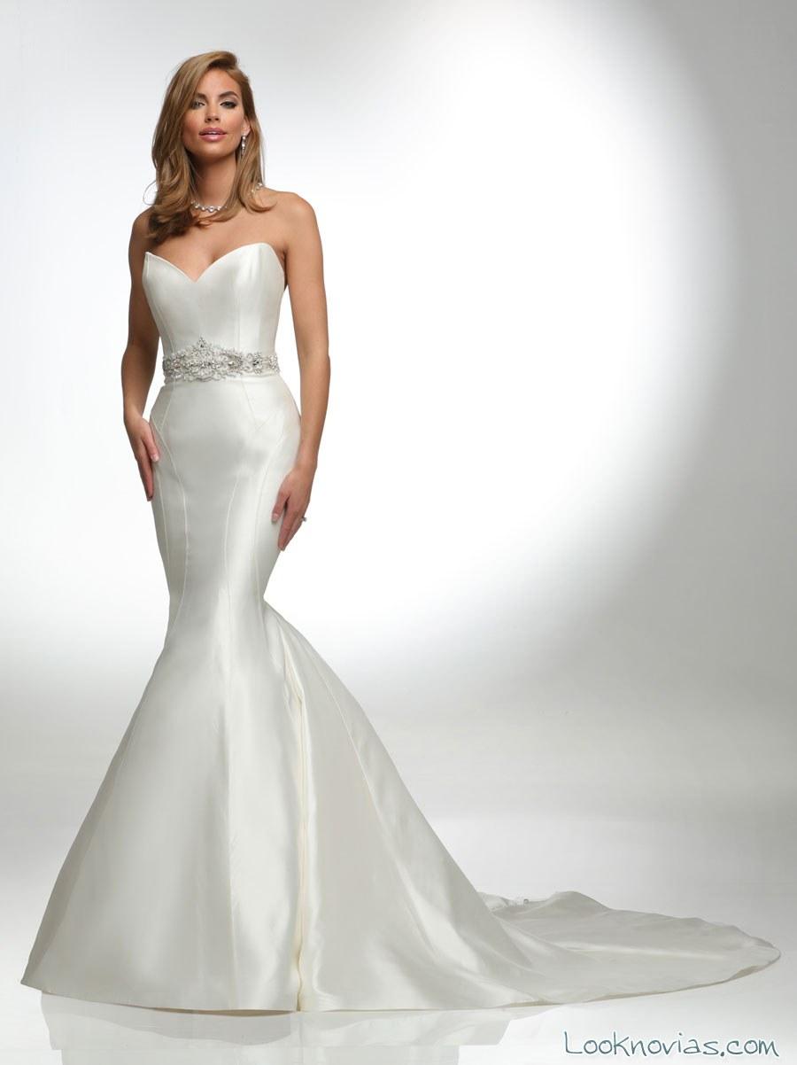 vestido blanco satinado de victor harper