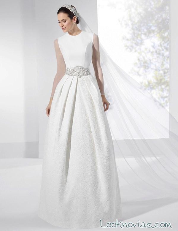 vestido blanco sencillo franc sarabia