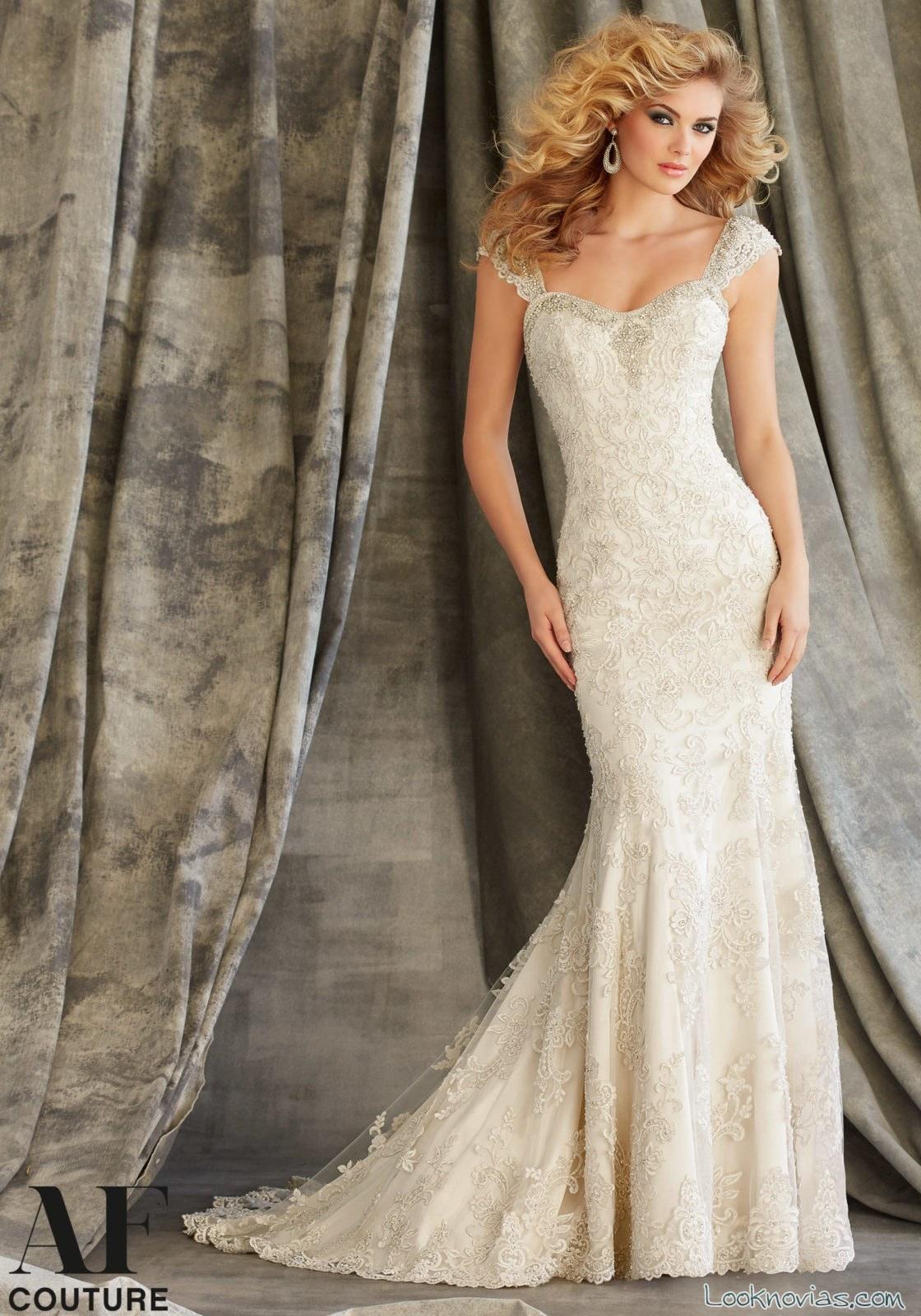 vestido blanco sirena novias AF