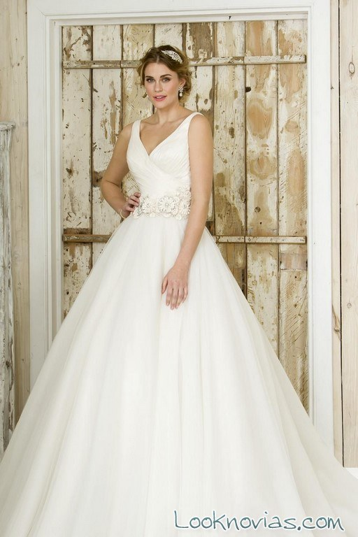 vestido blanco volumen true bride 2017