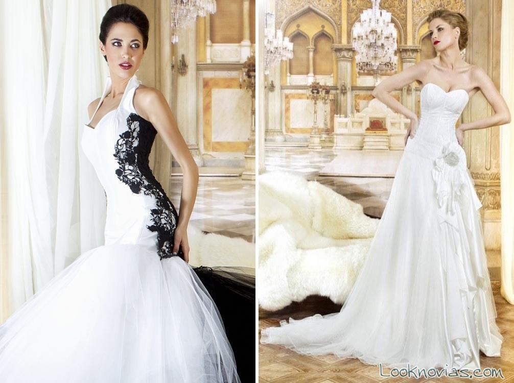 vestido blanco y negro jordi dalmau