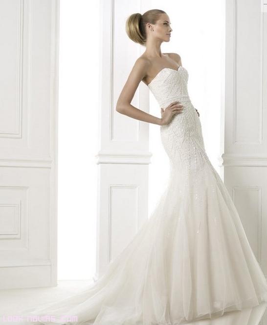 vestidos con bordados sencillos para novias
