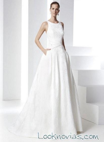 vestido brocado para novias bundó