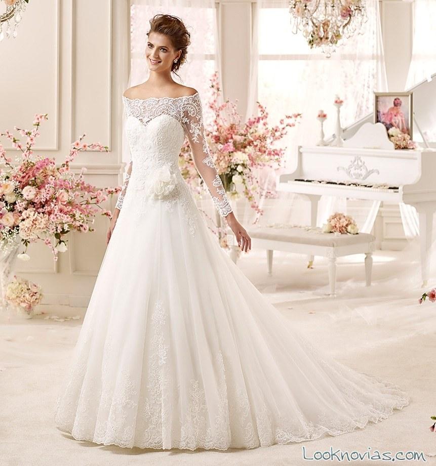 vestido colet 2016 elegante y romántico