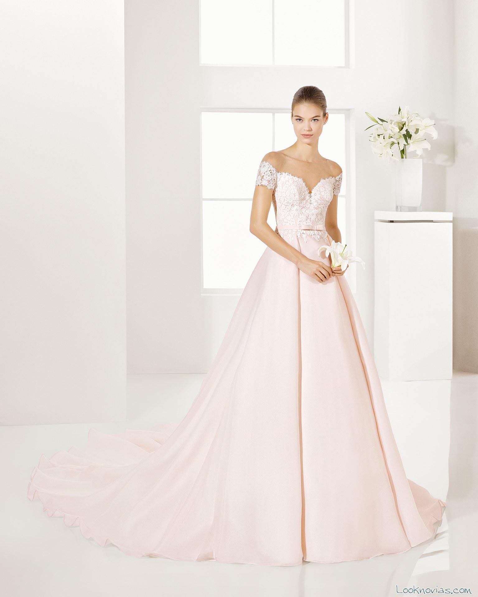 vestido color alma novias 2017 princesa