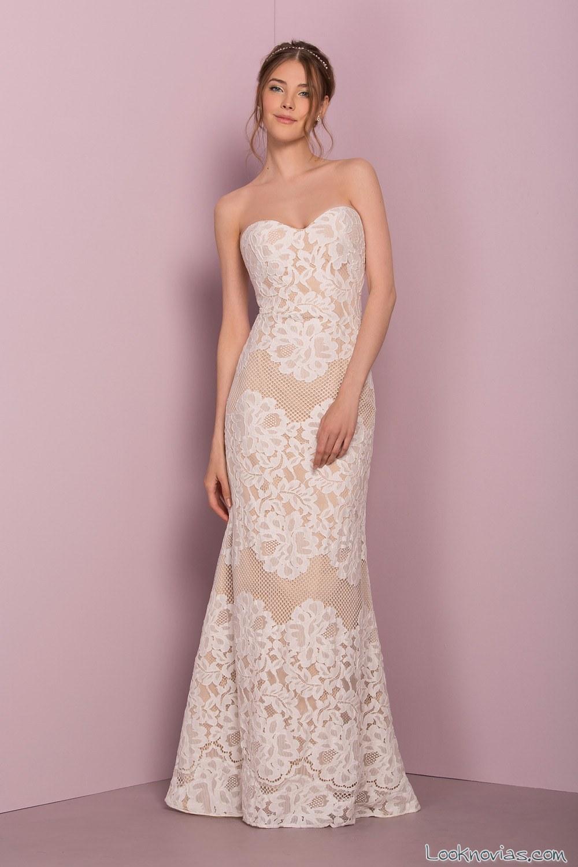 vestido combinado con encajes kesley rose