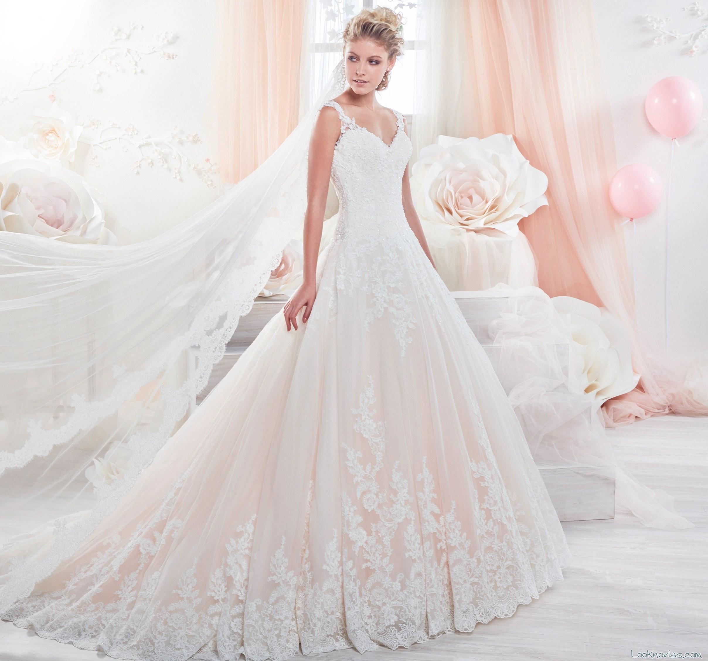 vestido combinado para novias colet
