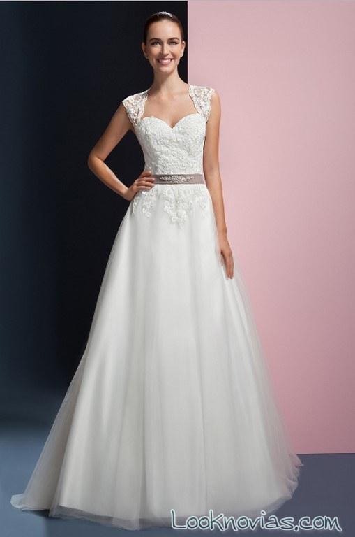 vestido con cinturón para novias orea sposa 2017