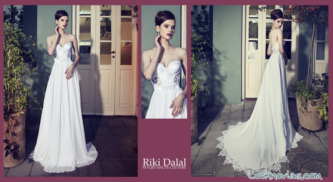 vestido con escote de riki dalal