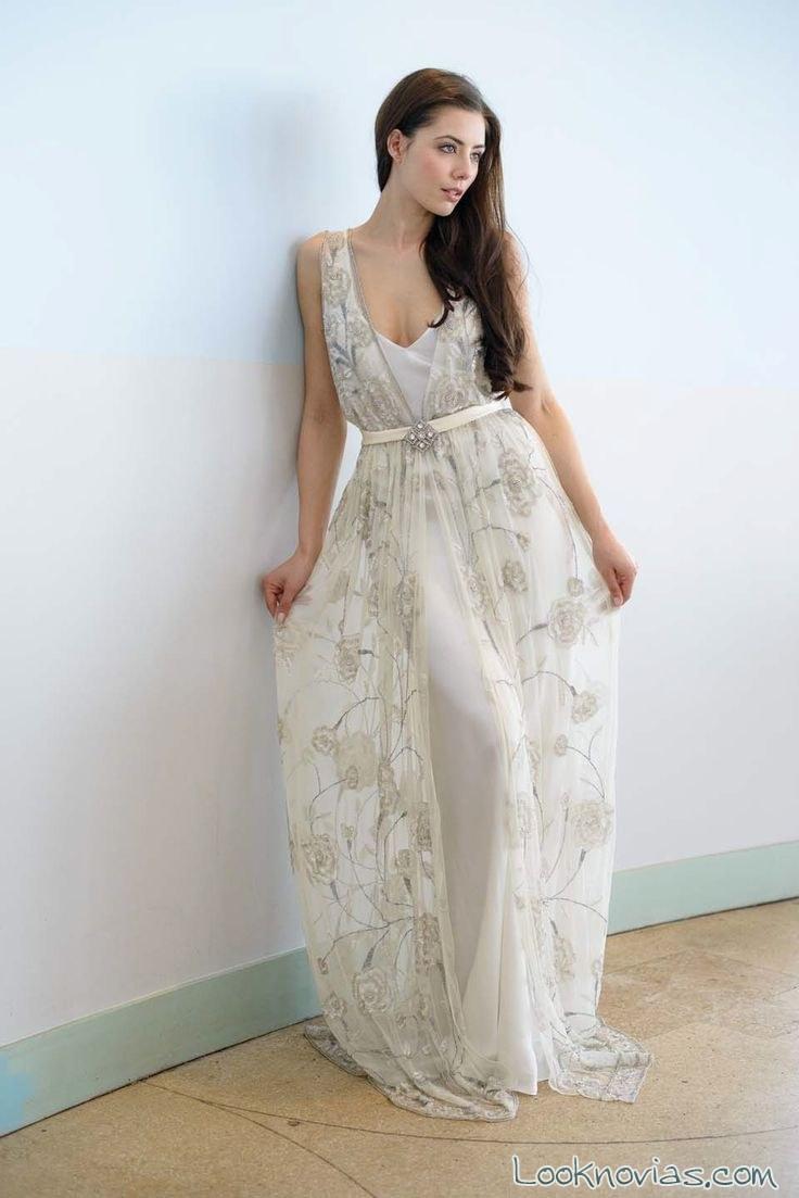 vestido con falda de gasa vicky rowe