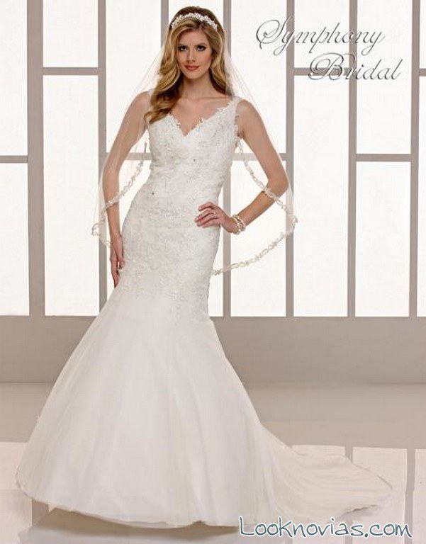 vestido con tirantes symphony bridal