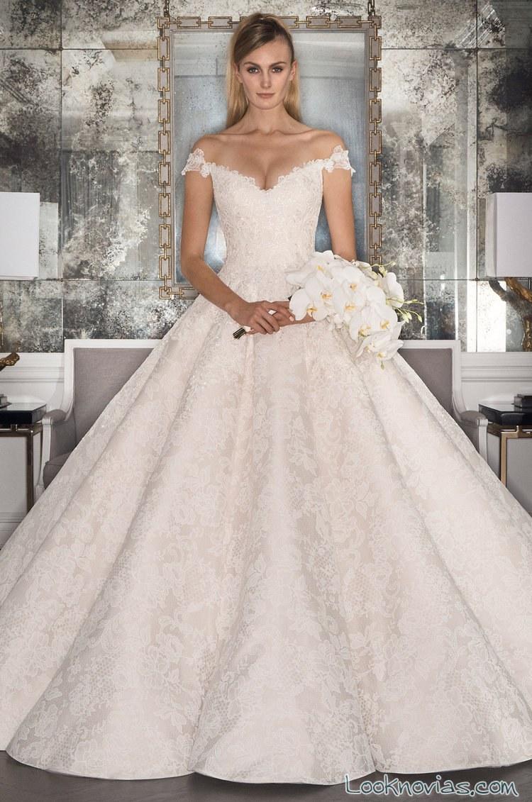 vestido con volumen princesa para novias