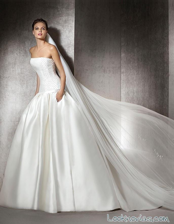 vestido corpiño novias san patrick