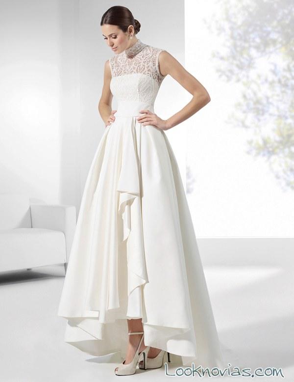 vestido corte asimétrico franc sarabia