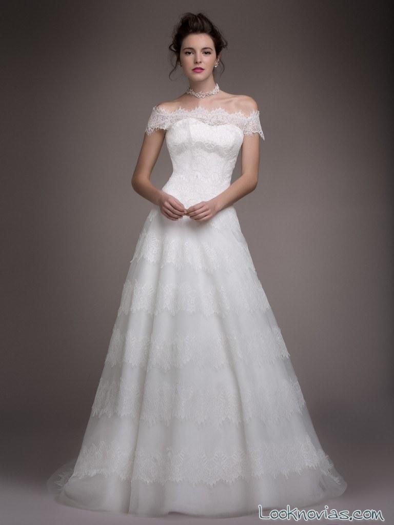 vestido corte evasé blancary