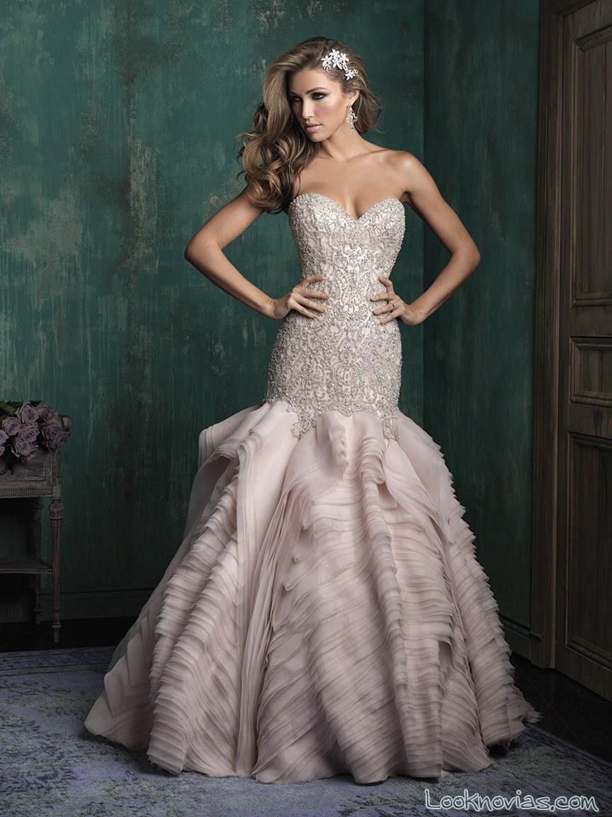 vestido corte sirena allure couture en color
