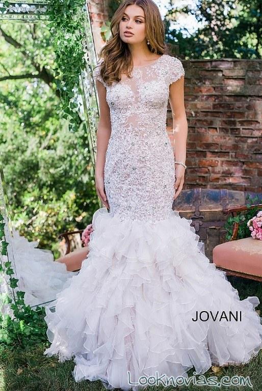 vestido corte sirena jovani novias