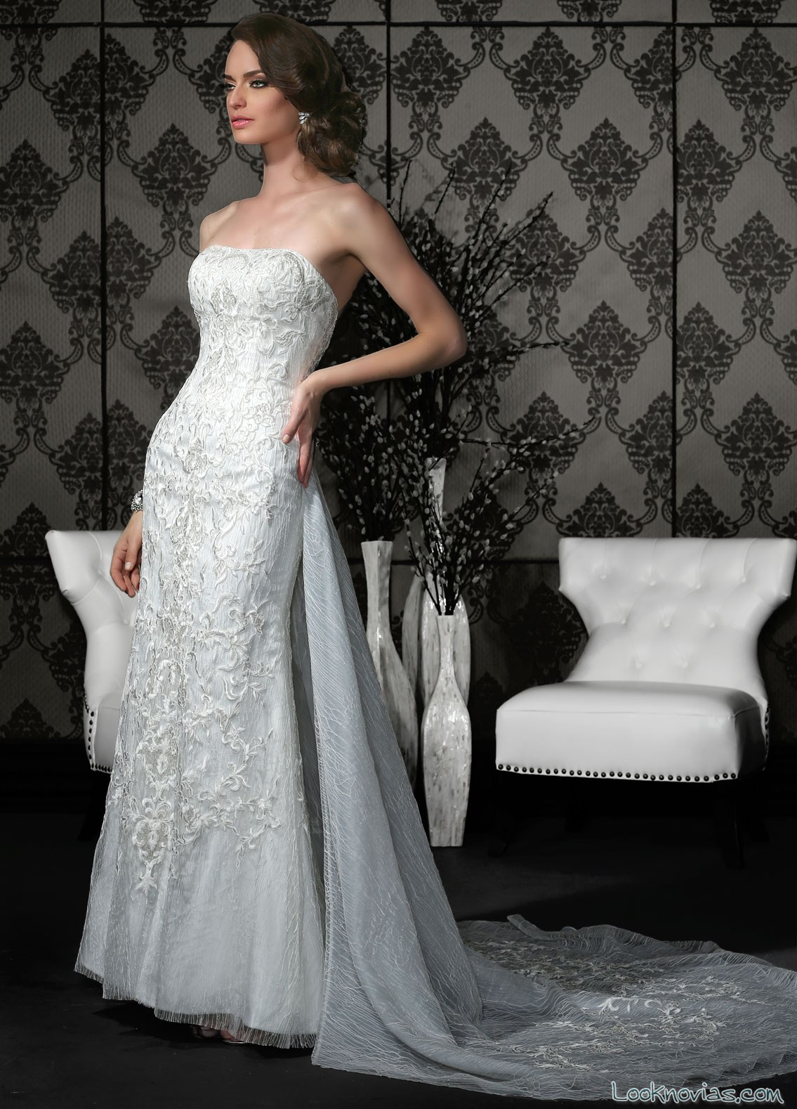 vestido corte sirena novias impression bridal