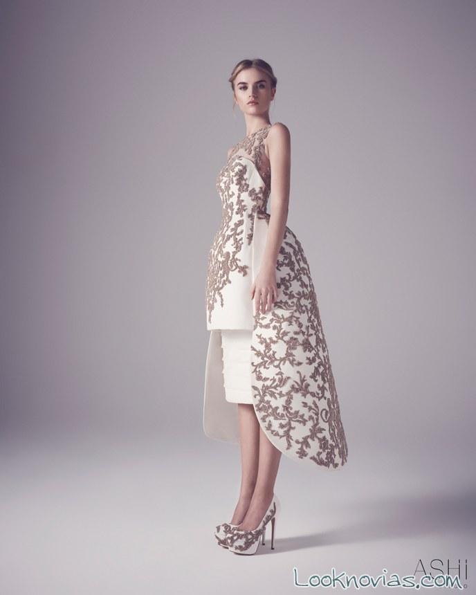 vestido corto de novia ashi