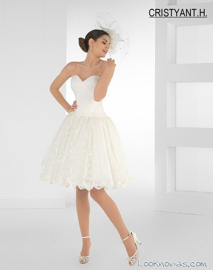 Vestido corto de novia cristyant h