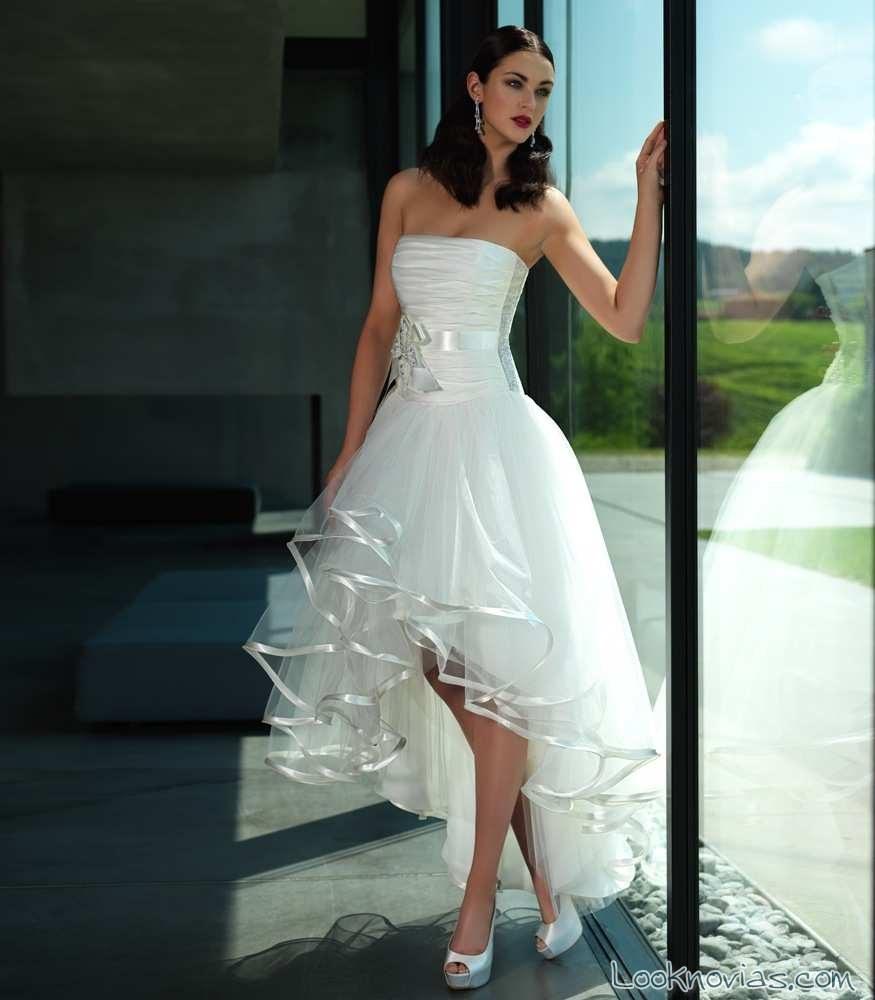 Vestidos de novia cortos originales