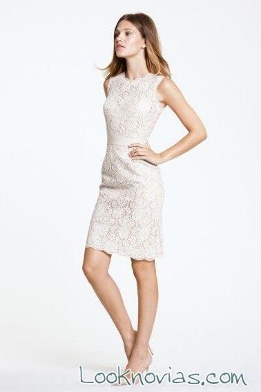 vestido corto para novia encore