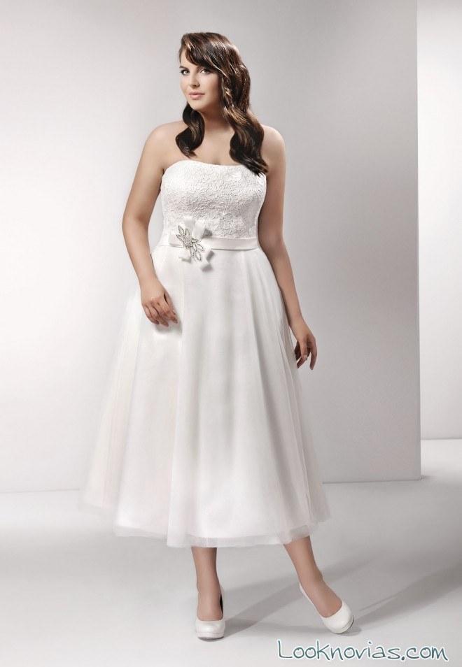 vestido corto plus size agnes bridal
